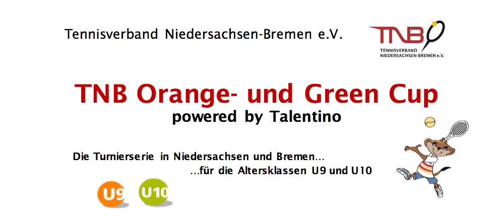 TNB Orange-und Green Cup U9-U10 findet am  31.07.2021 auf unserer Anlage statt